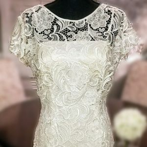 Intricately laced White Formal Dress